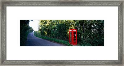 Phone Booth, Worcestershire, England Framed Print