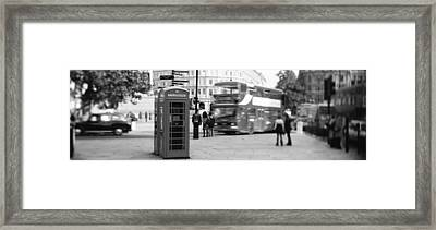 Phone Box, Trafalgar Square Afternoon Framed Print