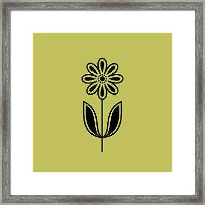 Phone Case Flower 2 On Avocado Framed Print by Donna Mibus