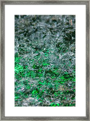 Phone Case - Liquid Flame - Green 2 - Featured 2 Framed Print by Alexander Senin