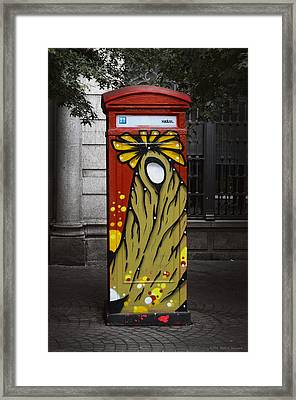 Phone Home - Oporto Portugal Framed Print by Mary Machare