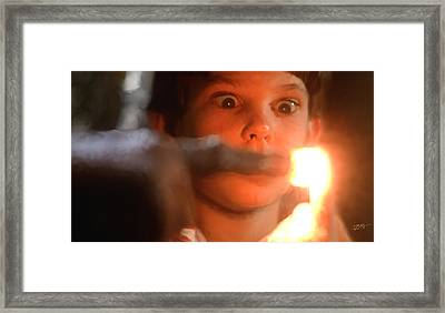 Phone Home Framed Print