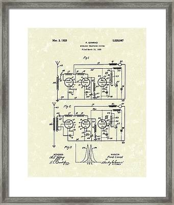 Phone System 1925 Framed Print