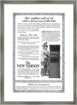 Phonograph, 1916 Framed Print