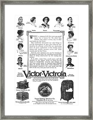 Phonograph Ad, 1912 Framed Print by Granger