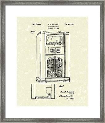 Phonograph Cabinet 1936 Patent Art Framed Print