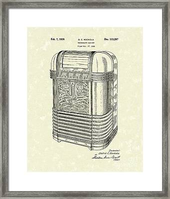 Phonograph Cabinet 1939 Patent Art Framed Print by Prior Art Design