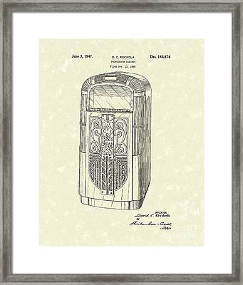 Phonograph Cabinet 1947 Patent Art Framed Print