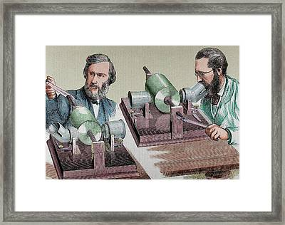 Phonograph Created In 1877 By Thomas Framed Print by Prisma Archivo