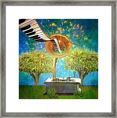 Phonograph Magic Framed Print