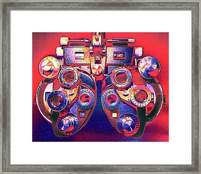 Phoropter Framed Print by Larry Berman