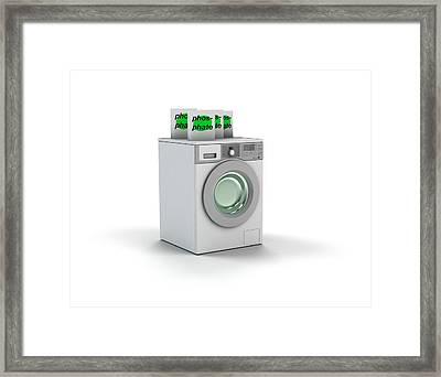 Phosphate Washing Powder Framed Print by Mikkel Juul Jensen