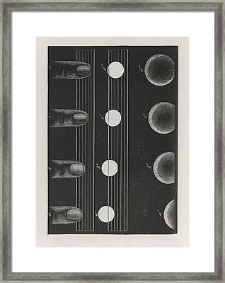 Phosphenes And Retinal Images Framed Print by King's College London