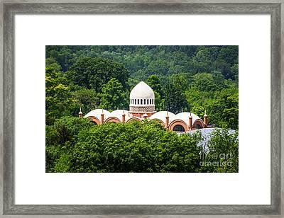 Photo Of Elephant House At Cincinnati Zoo Framed Print by Paul Velgos
