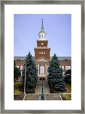 Photo Of Mcmicken Hall At University Of Cincinnati Framed Print by Paul Velgos