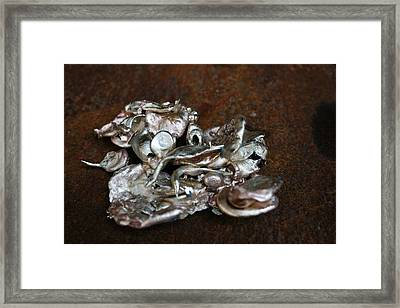 Photo Of Mixed Metal Sculpture Framed Print
