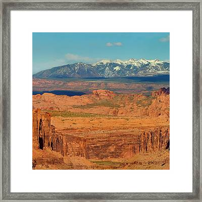 Photo Taken From Long Canyon Framed Print by Howie Garber