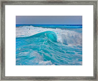 Photo Triptych. Ebb. Wave. Flow. Part 2.  Center. Framed Print by Andy Za