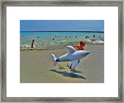 Photo Triptych. Ebb. Wave. Flow. Part 3. Framed Print by Andy Za