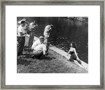 Photogenic Photo Shoot Framed Print by Underwood Archives