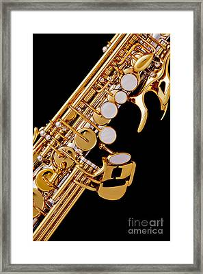 Photograph Of A Soprano Saxophone Color 3355.02 Framed Print by M K  Miller