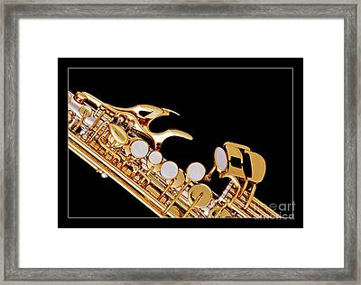 Photograph Of A Soprano Saxophone In Color 3342.02 Framed Print