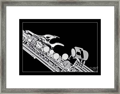Photograph Of A Soprano Saxophone In Sepia 3342.01 Framed Print