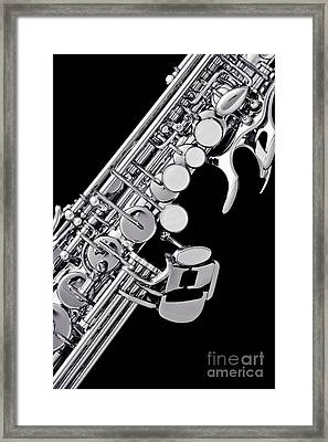 Photograph Of A Soprano Saxophone Sepia 3355.01 Framed Print