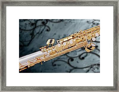 Photograph Of Classic Soprano Saxophone 3349.02 Framed Print