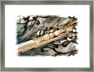 Photograph Of Classic Soprano Saxophone Painting 3348.02 Framed Print