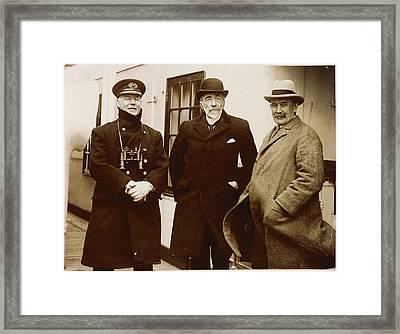 Photograph Of Joseph Conrad Framed Print by British Library