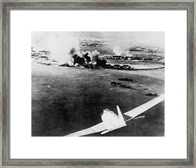 Photograph Taken By A Japanese Pilot Framed Print by Everett