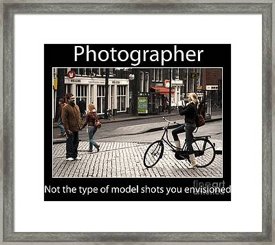 Photographer Framed Print by John Rizzuto