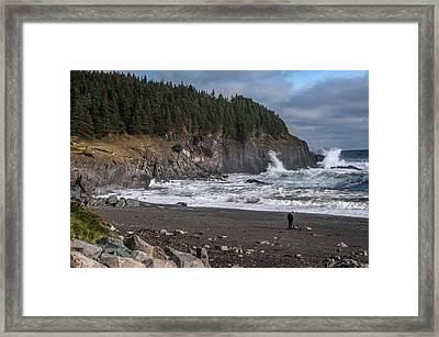 Photographer On Atlantic Beach Framed Print