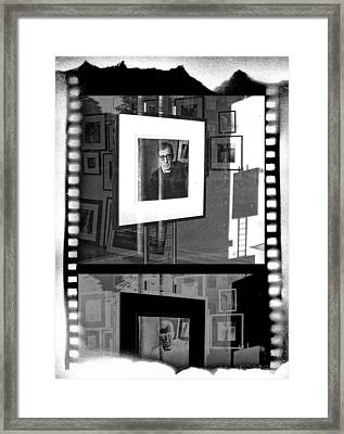 Photographic Artwork Of Woody Allen In A Window Display Framed Print by Randall Nyhof