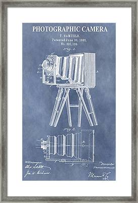 Photographic Camera Patent Framed Print
