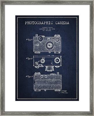 Photographic Camera Patent Drawing From 1938 Framed Print by Aged Pixel