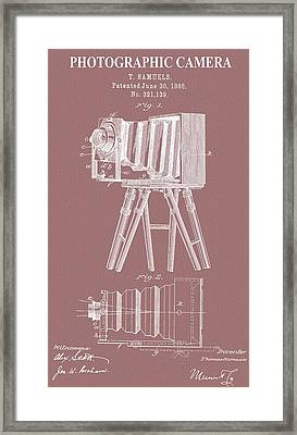 Photographic Camera Patent On Canvas Framed Print