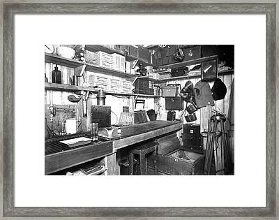 Photographic Darkroom In Antarctica Framed Print by Scott Polar Research Institute
