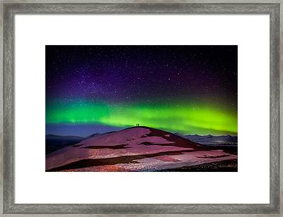 Photographing The Auroras And Icebergs Framed Print by Panoramic Images