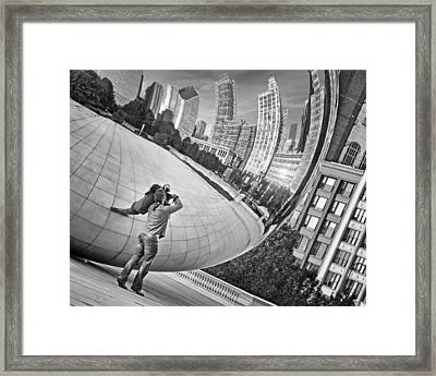 Photographing The Bean - Cloud Gate - Chicago Framed Print