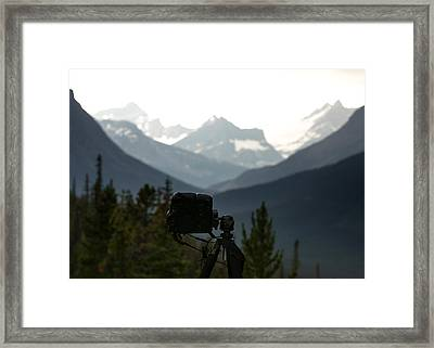 Photographing The Tonquin Valley Framed Print by Cale Best