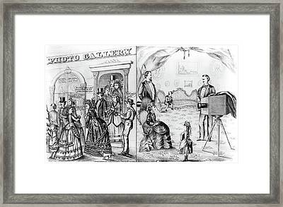 Photography Studio, 1873 Framed Print