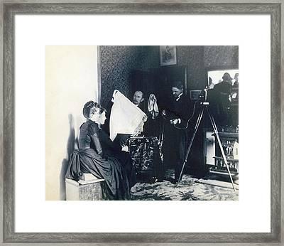 Photography Studio, C1890 Framed Print
