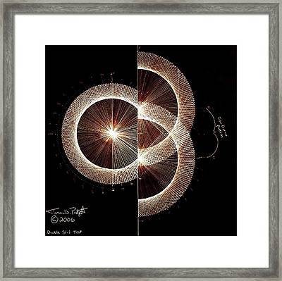Photon Double Slit Test Hand Drawn Framed Print