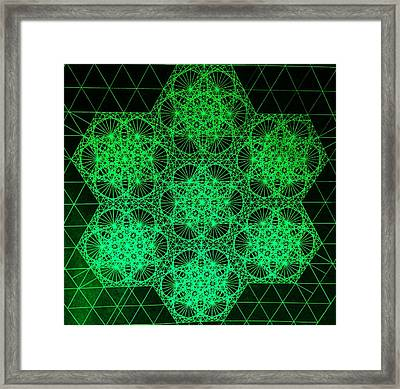 Photon Interference Fractal Framed Print