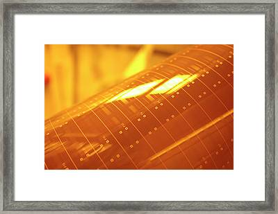 Photonics Polymer Framed Print by Ibm Research