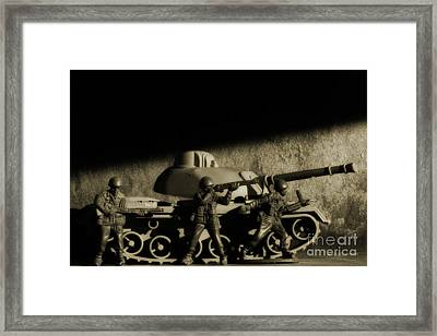 Photos From The Front World Wars Tank Framed Print by Randy Steele