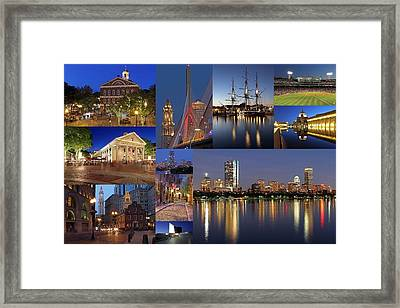 Photos Of Boston Historic Landmarks Framed Print by Juergen Roth