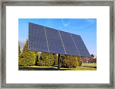 Photovoltaic Framed Print by Olivier Le Queinec
